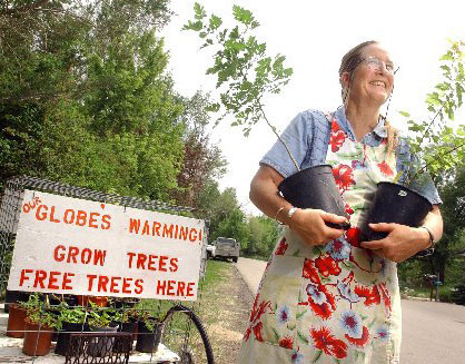 Giving away seedlings for free - combat global warming